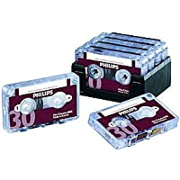 Philips 30-Minute Mini Cassette Tape - 10 Pack