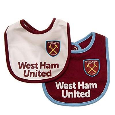 West Ham United FC Baby Bibs (Pack Of 2)