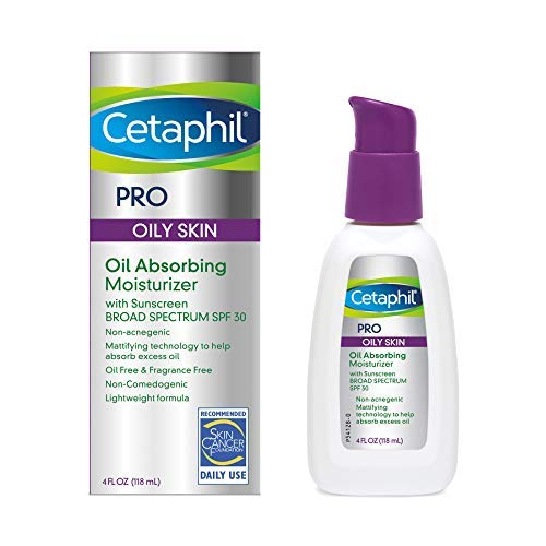 Cetaphil Dermacontrol Facial Moisturizer for Acne-Prone Skin with Suncreen SPF 30, 4 Fluid (Packaging May Vary) Ounce (Best Facial Moisturizer For Smooth Skin)