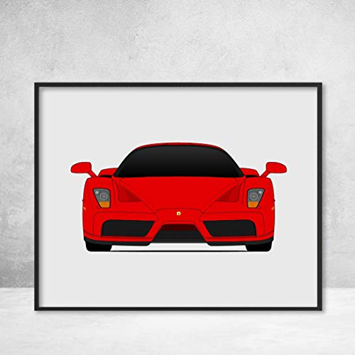 - Ferrari Enzo Supercar Poster Print Wall Art Decor Handmade