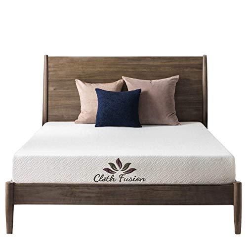 Cloth Fusion Fruton 2nd Gen 6 inch Gel Memory Foam Mattress for Queen Size Bed (72' x 60' x 6', White)