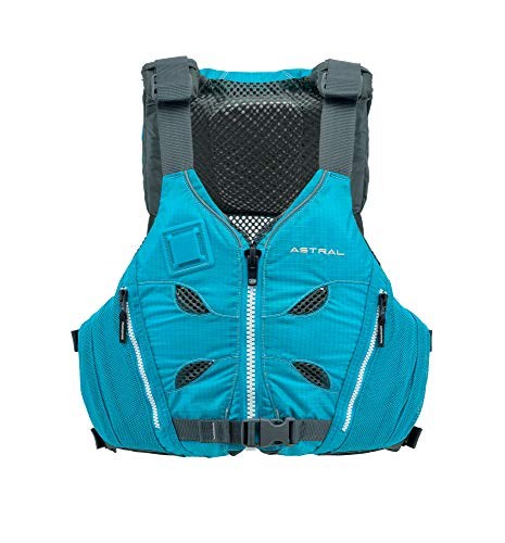Astral V-Eight Life Jacket PFD for Recreation, Fishing and Touring Kayaking, Glacier Blue, Small/Medium