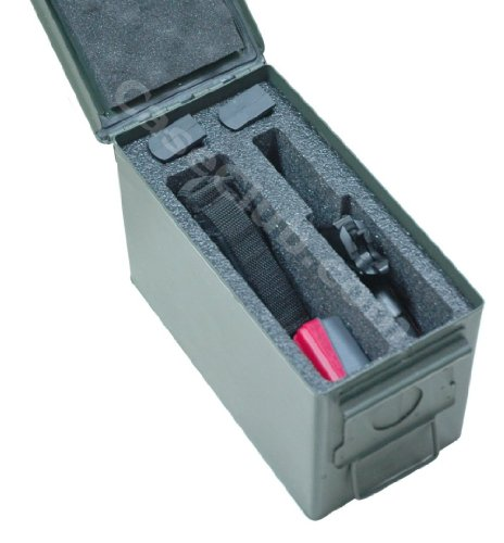 Case Club 1 Pistol & Accessory Holder .50 Cal Ammo Can Foam (Pre-Cut, Closed Cell, Military Grade Foam)