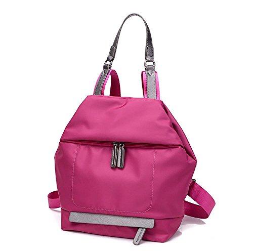 LINGE Bolso de hombro señoras Oxford Bunni ocio de largo gran capacidad mochila bolso de la lona , black rose red