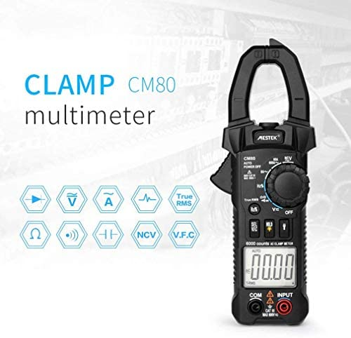 Zjcpow Digital Clamp Meter Multimeter, 5999 Counts AC/DC Volt Amp Ohm Capacitance Frequency NCV Diode Tester VFC xuwuhz