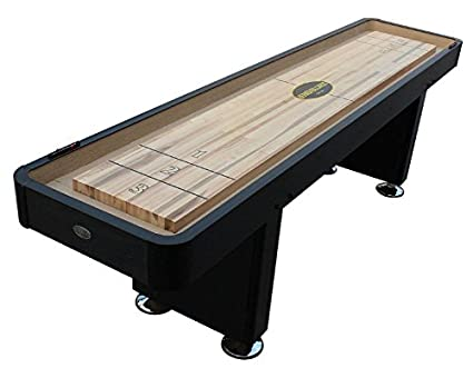 Amazoncom The Standard Foot Shuffleboard Table In Black By - Standard shuffleboard table
