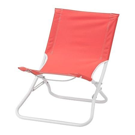 Sedie A Sdraio Ikea.Sedia A Sdraio Pieghevole Rosso Chiaro Ikea Amazon It Casa E