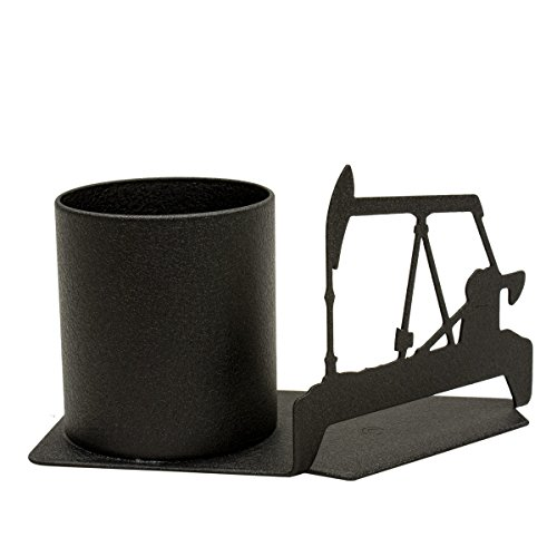 Pump Jack and Oil Tank Pen and Pencil Holder Desk Accessory