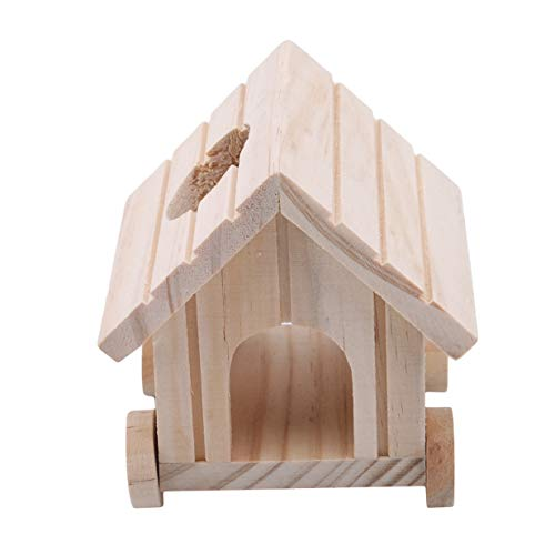 LALANG Creative Multifunction Mobile Small Animal Car House Pet Hamster Villa Chalet Toy