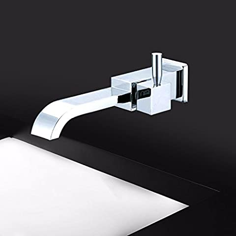 STAZSX European copper dark wall-mount faucets wash basin above counter basin lavatory sink faucet hot and - Three Hole Wall Mount Washbasin