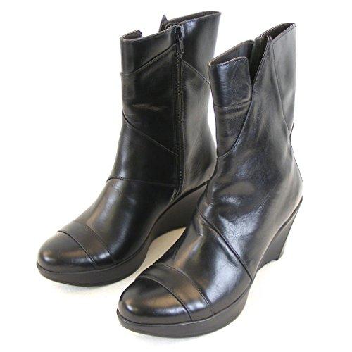 Naot Damen Schuhe Stiefel Ella Leder schwarz 12921 Reißverschluss Korkfußbett