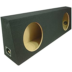 "ASC Dual 10"" Subwoofer Regular Standard Cab Truck Sealed Sub Box Black Speaker Enclosure"