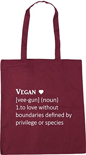 defined Bag Definition Shopping 10 To Vegan gun without species privilege Tote 1 noun 42cm vee boundaries love x38cm Burgundy or litres by HippoWarehouse Gym Beach vHqa55