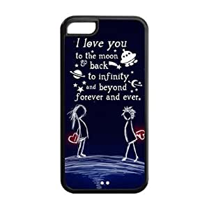 diy phone case5C Phone Cases, I Love You To the Moon and Back Hard Cover Case for iphone 5/5s Designed by HnW Accessoriesdiy phone case
