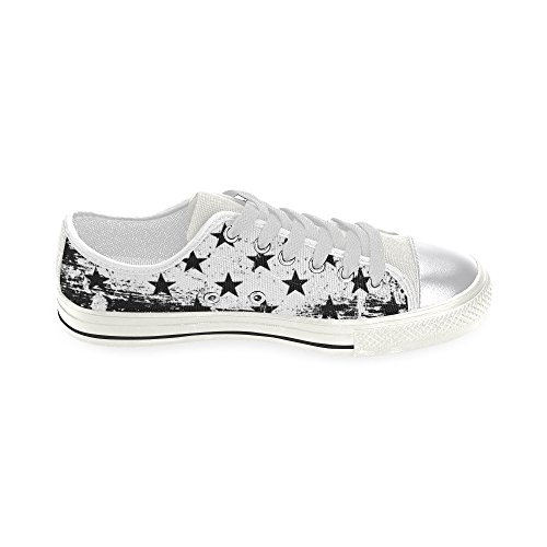 D-story Custom Stars Womens Classic Canvas Shoes Fashion Sneaker