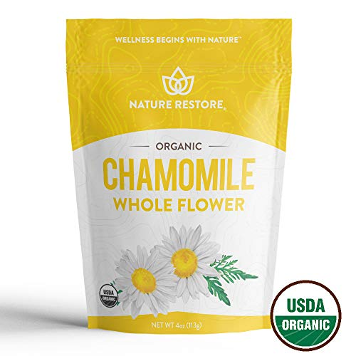 USDA Certified Organic Chamomile Tea Loose, Whole Flower, 4 Ounces