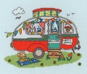 Bothy Threads Sew Dinky Caravan Cross Stitch Kit by Bothy Threads