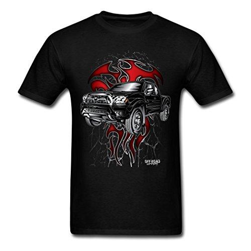 Lovets 2016 Fashion Men's Toyota Tacoma T-shirts Black