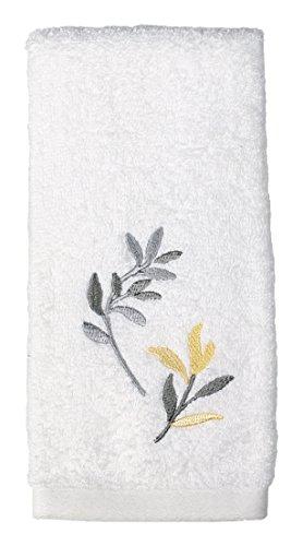 Saturday Knight Trellis Hand Towel,Yellow/Gray