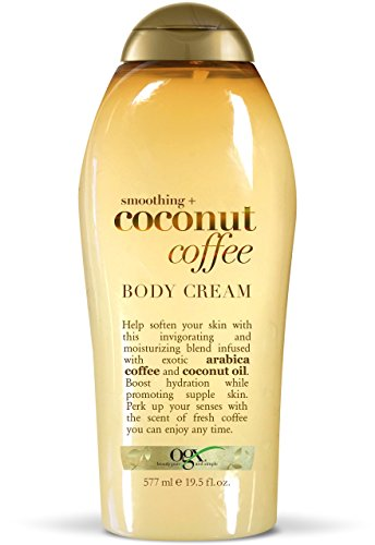 (OGX Smoothing + Coconut Coffee Body Cream, 19.5 Ounce)