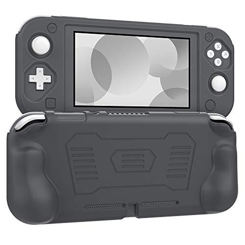 MoKo Grip Case for Nintendo Switch Lite, Anti-Collision Non-Slip Shockproof Silicone Case Cover Shell for Protecting Nintendo Switch Lite 2019 - Gray