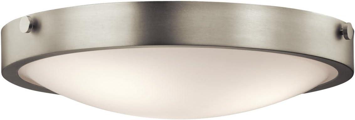 Kichler 42275NI Lytham Flush Mount 3-Light, Brushed Nickel