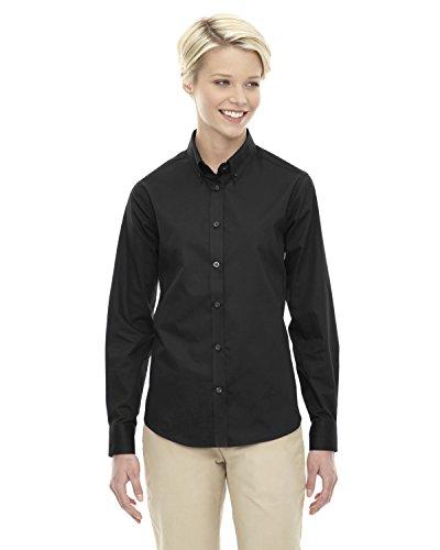 Long Core Sleeve Shirt (Ash City Core 365 Ladies Operate Long-Sleeve Twill Shirt, XL, Black 703)