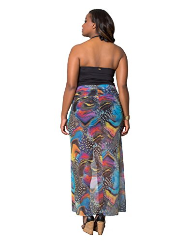 Kiyonna Women's Plus Size Catalina Cover Up Sml Spotted Butterfly Print