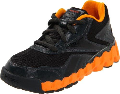 Reebok Mini ZigActivate TD Running Shoe (Toddler),Black/Gravel/Maximum Orange/Orange,4 M US Toddler