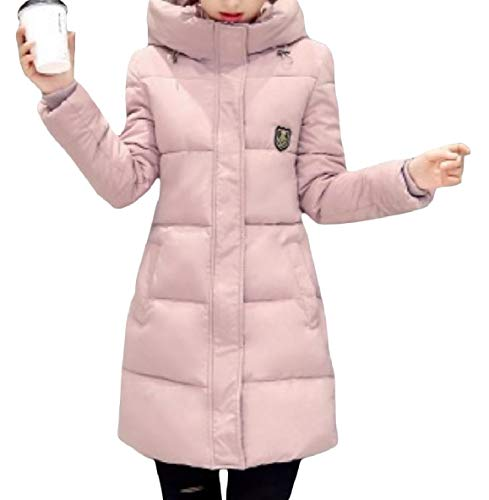 Warm Pocket Pattern4 Down XINHEO Mid Thickened Jacket Skinny Up Women Long Zip Hood AwqXqI6p