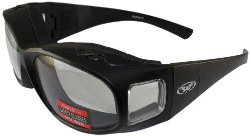 Global Vision Fit Over Prescription Sunglasses with Removable Neoprene Foam (Matte Black Frame/Clear - Walmart Prescription Sunglasses