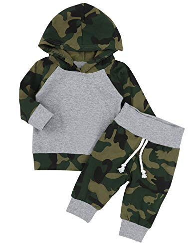8ba42c6f24ed Jual Newborn Infant Baby Boy Camouflage Clothes Hooded T-Shirt Tops ...
