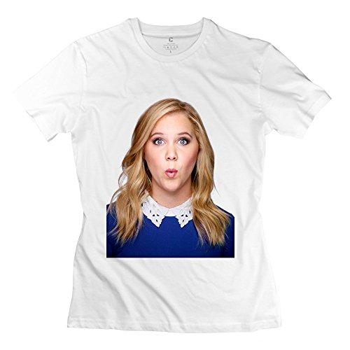YJJ Womens Amy Schumer Funny Girl T-shirt L White