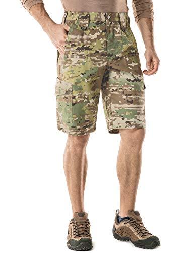 CQR CQ-TSP203-MTN_38 Men's Tactical Lightweight Utiliy EDC Cargo Work Uniform Shorts