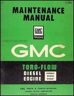 1968 gmc toro flow diesel engine original repair shop manual gmc rh amazon com toro service manual snowblower toro service manual snowblower
