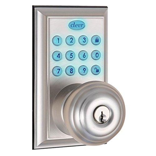 Clevr Indoor / Outdoor Electronic Keypad Keyless Entry Door Lock Satin Nickel