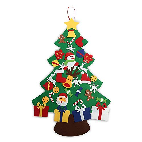ASSIS 2018-New 3FT Felt Christmas Tree Set with Ornaments - Wall Hanging