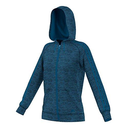 Unity Cappuccio Con Da small In Heather Donna Team Issue 3 Intera Donna Heather Adidas Zip X nbsp;strisce Blue E Pile black 61qz8q