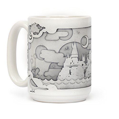 LookHUMAN Hogwarts Cut Paper White 15 Ounce Ceramic Coffee ()