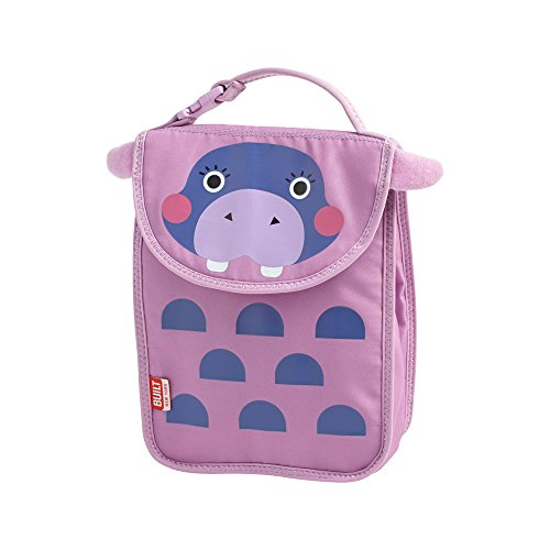 Built NY 5155768 Big Apple Buddies  Reusable Insulated Kid's Lunch Box Sack, Hester Hippo