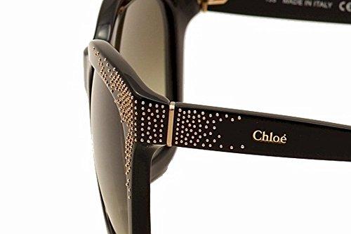 carrées Brown Gradient CE626S cloutés noir en 55 de Lunettes 001 soleil Chloe wvxqt1BPv