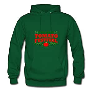 X-large Tomato Image And Let You Handle It Style Personality Women Green Sweatshirts