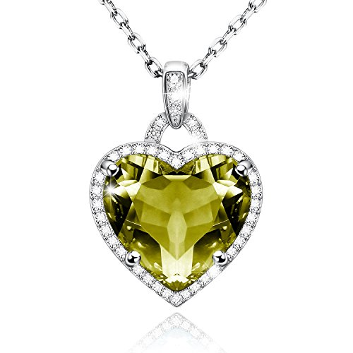 Birthstone Heart Necklace - 3