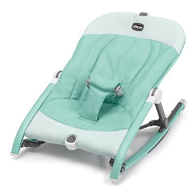 3 Recline Positions Pocket Relax Baby Rocker in Teal   Ultra Compact and Portable