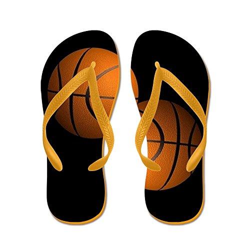 Ciabatta Da Basket - Infradito, Sandali Infradito Divertenti, Sandali Da Spiaggia Arancione