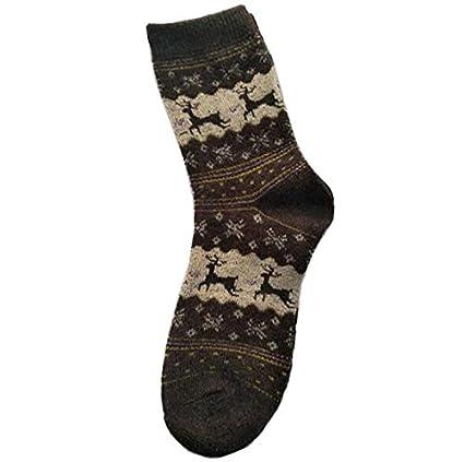Fygrend - Calcetines de Las Mujeres Señora de la Navidad calcetín del Regalo de Moda de