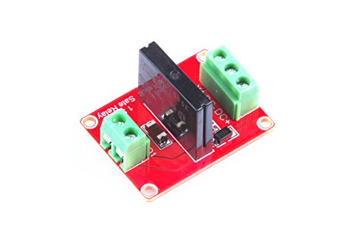 - KNACRO 1-way High-level solid state relay modules Red Board DC 24V solid state relays AC 240V/2A Output with resistive fuse 240V/2A 50/60Hz High-level Trigger