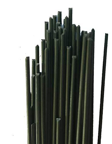 Dark Green Floral Wire Stem Wire 18 inch 1 Lb. Package w/Flower Craft eBook (16 ()