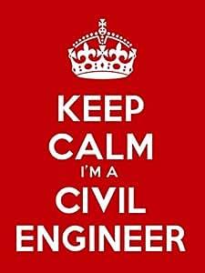 Keep Calm I m un ingeniero Civil llavero - 5 cm x 3,5 cm ...