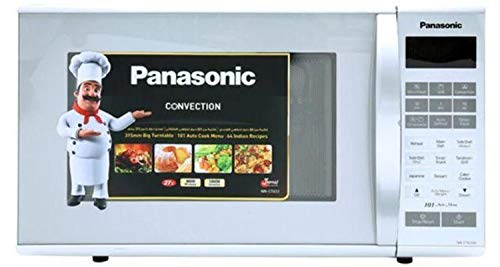 Panasonic NN-CT651M 27-Liter 1400-Watt Convection Microwave Oven, 220V (Not for USA – European Cord), White